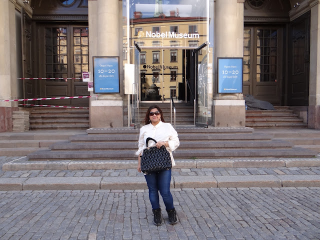 In front of the Nobel museum