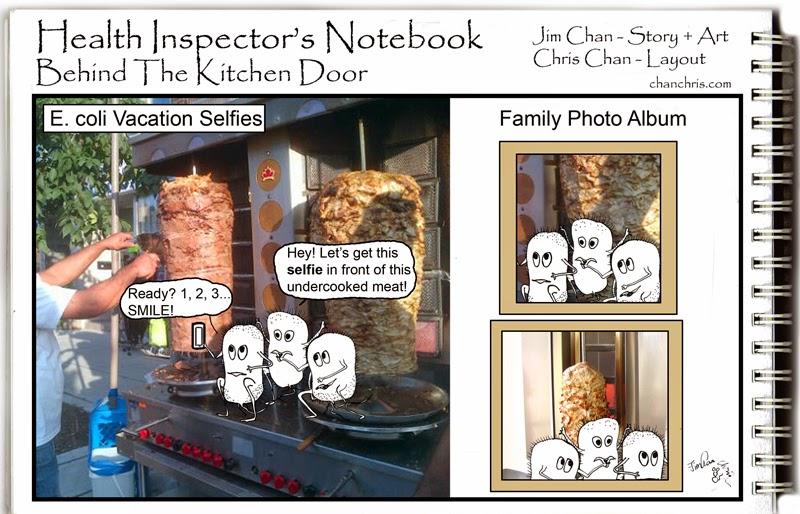 Health Inspectors Notebook Have A Shawarma Donair Or Gyro Kebab