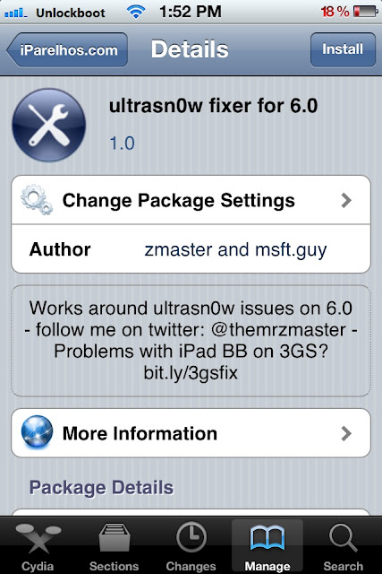 Unlock iOS 6.0 with Ultrasn0w