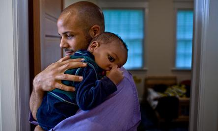 Single Dads: Not So Singularly Rare Anymore - black man carry child kid boy father