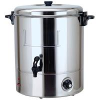 Boiler pentru bautura fierbinte, 30 lt.,din otel inoxidabil, cu pereti simpli, mentine bauturile la o temperatura de servire ,cu robinet anti-picurare, cu resetare automata si indicator de curatare  Ø 520x(H)500 mm 30 Lit 2200 W 230 V