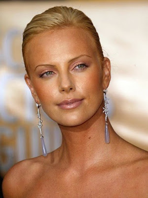Charlize Theron Diamond Gemstone Chandelier Earrings