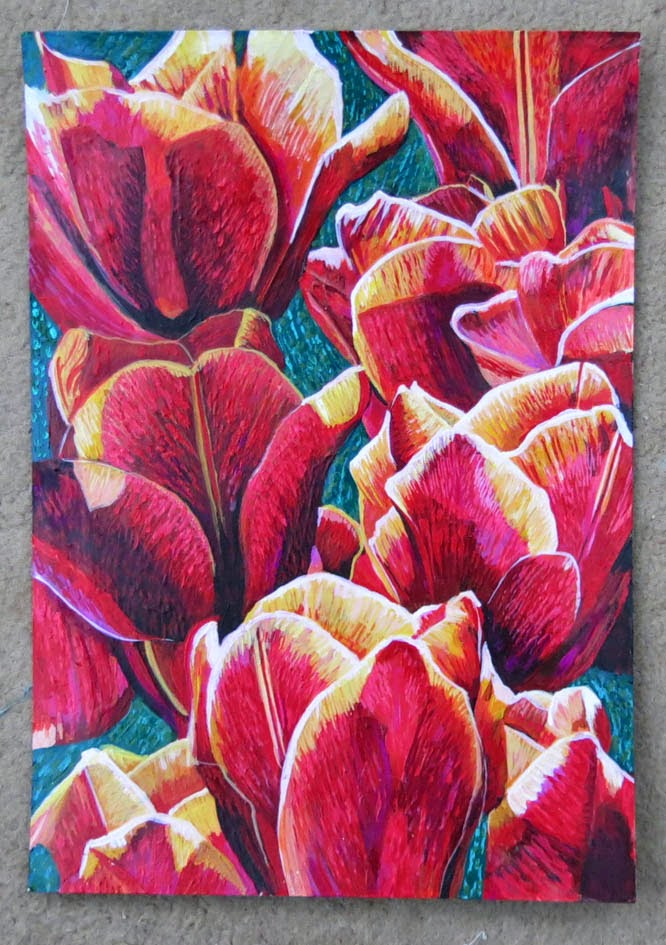Rozartz contemporary floral paintings may 2015 for Floral acrylic paintings