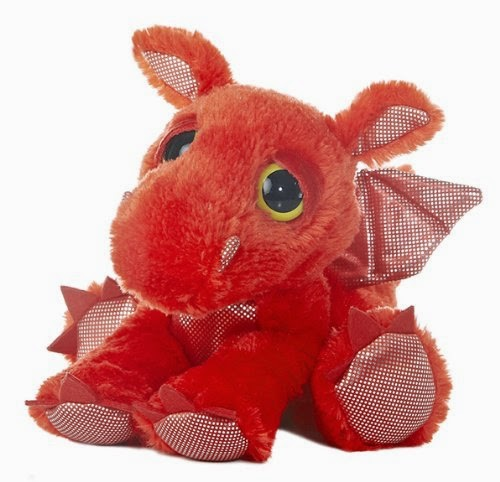 Aurora World Dreamy Eyes Flame Red Dragon Plush