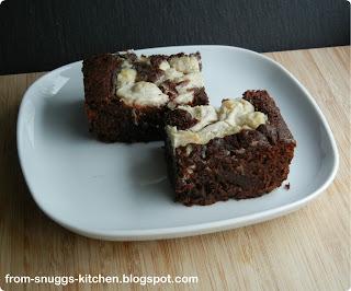 Schokoladen-Frischkäse-Brownies