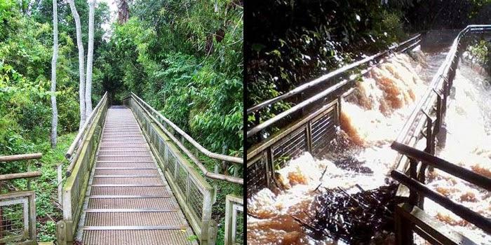 histórica inundación del río Iguazú