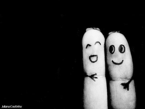 Fingers who are friends.