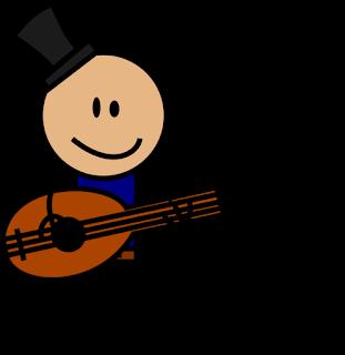 gambar kartun pemain musik