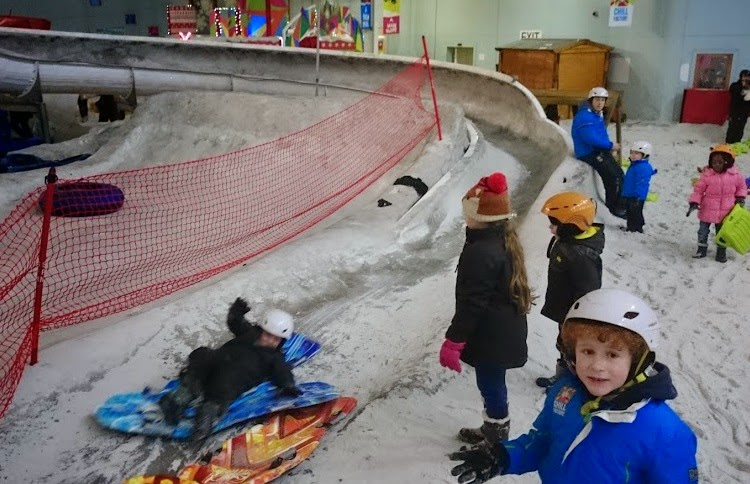 Snow Play luge for over 6 year olds at Chill Factore in Manchester