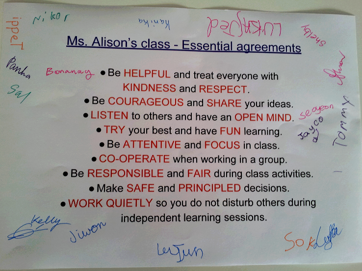 Ms Alisons Blog Class Essential Agreements