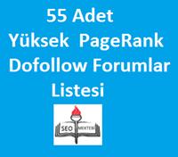 55 Adet Yüksek PageRank Forumlar