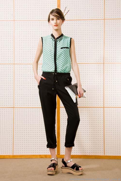 Camisas sin mangas mujer verano 2014. Las Pepas moda argentina 2014.