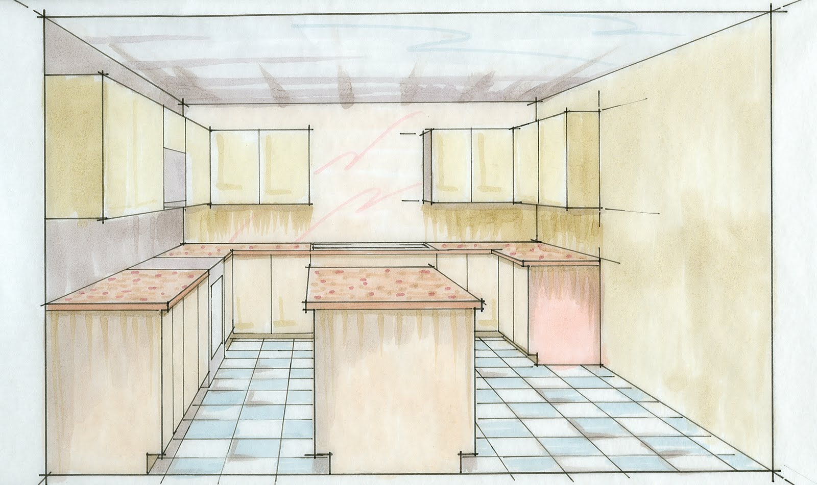 Intdsgnideas Two Point Perspective Kitchen Images. Kitchen ...