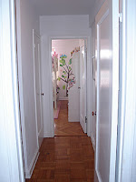 nyc penthouse - hallway before