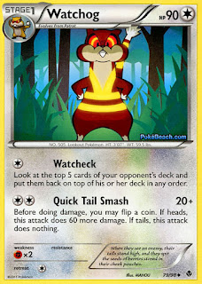 Watchog Emerging Powers Pokemon Card
