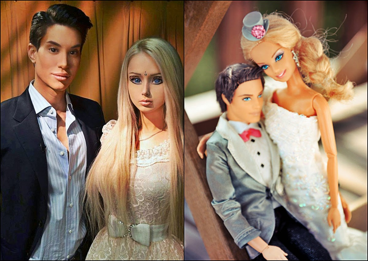 Real life barbie girl and ken