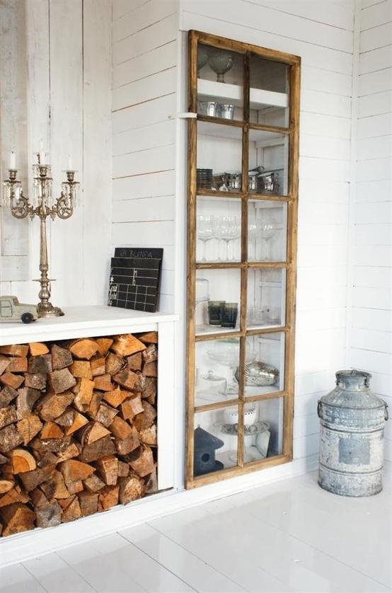 i de a fireplace wood storage
