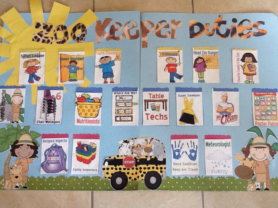 Classroom Zoo Ideas ~ Mrs ayala s kinder fun classroom jobs