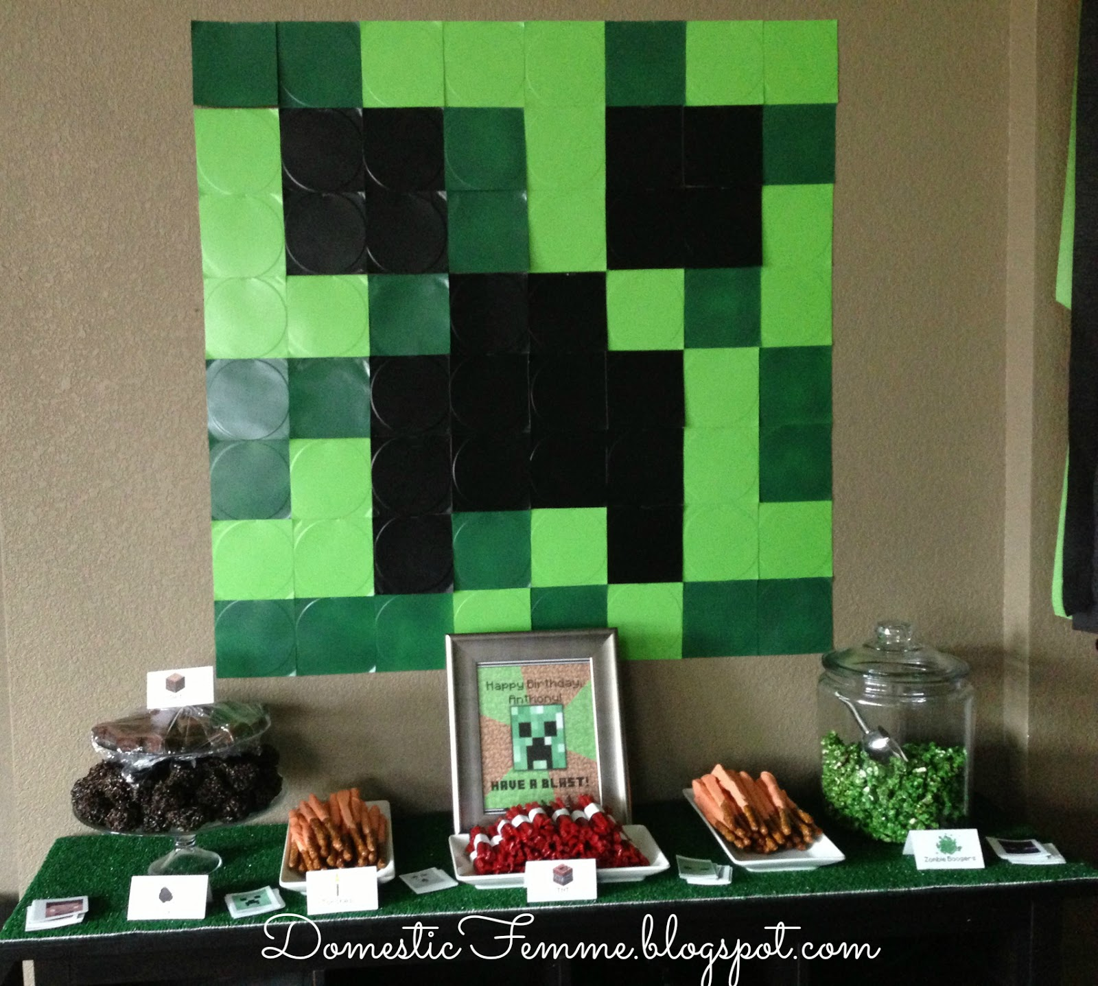 domestic femme minecraft birthday party. Black Bedroom Furniture Sets. Home Design Ideas