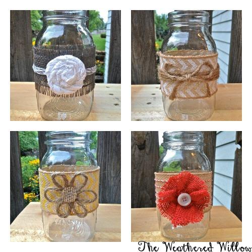 The Weathered Willow Diy Mason Jar Vases