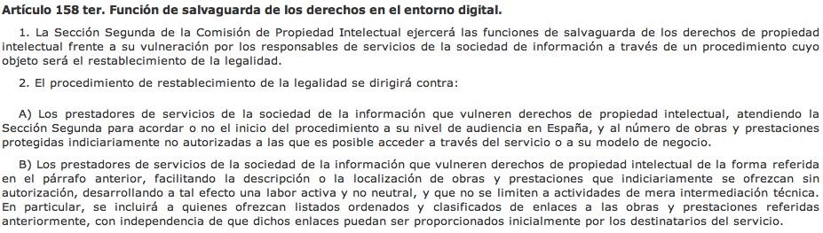 Spain crisis c mo afecta a mi blog la nueva ley de for Fuera de mi propiedad