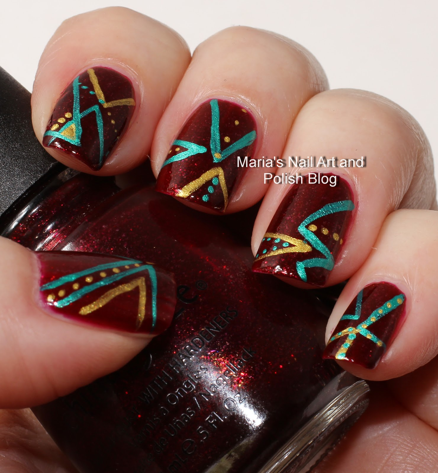 Marias Nail Art And Polish Blog Flushed With Stripes And: Marias Nail Art And Polish Blog: Abstract Chevron Nail Art