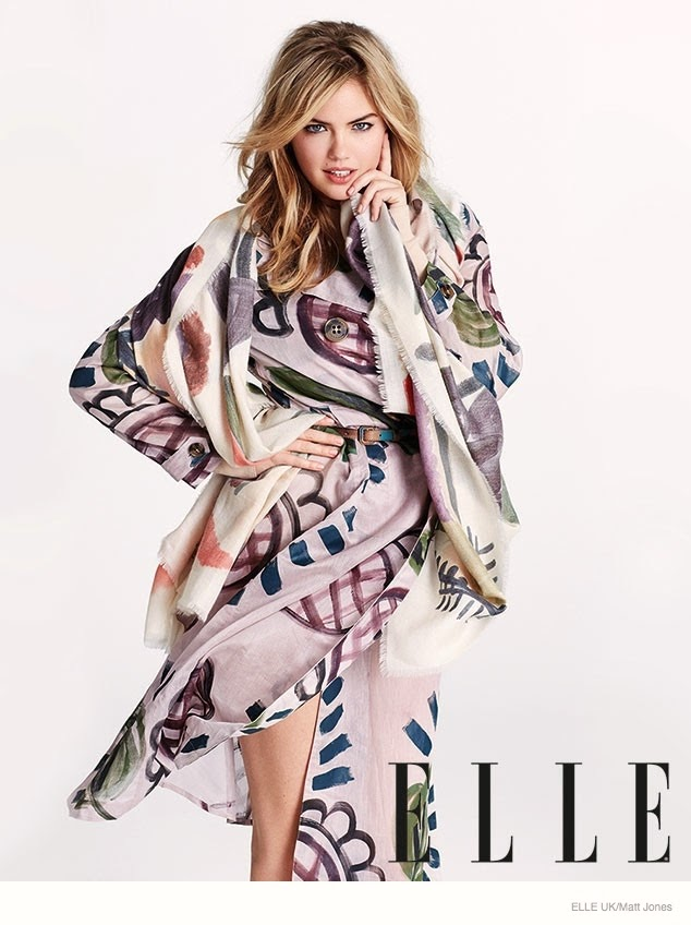 Kate Upton - Elle UK September 2014