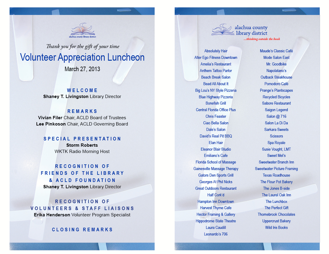 Luncheon program template roho4senses luncheon program template thecheapjerseys Image collections