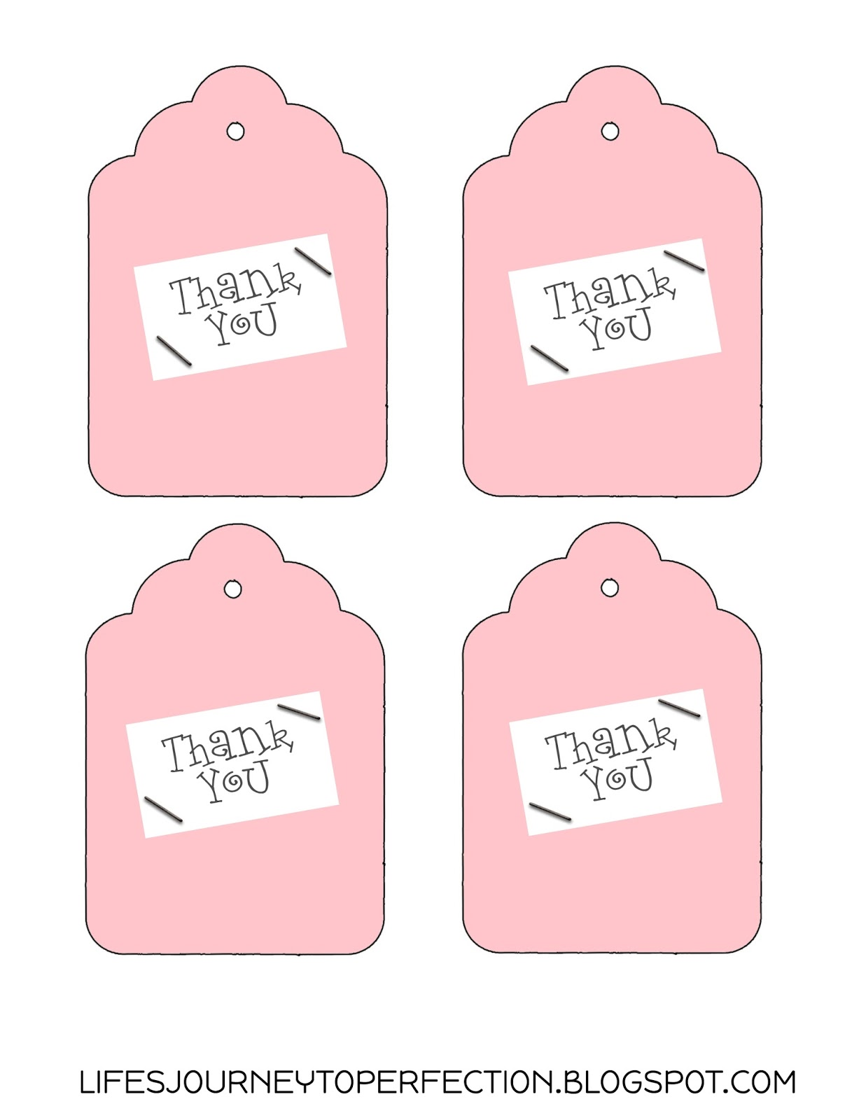 ... Journey To Perfection: Thank You Gift Idea and Free Tags Printable