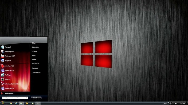 best windows 8 themes red color