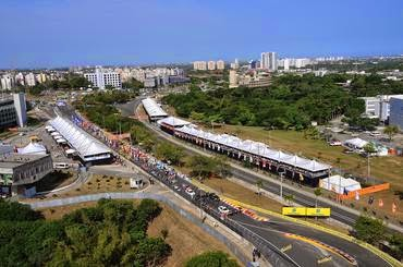 Grid de largada em Salvador