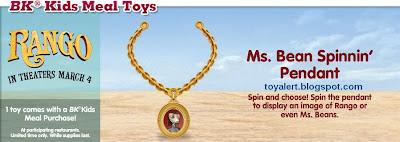 Burger King Rango Toys 2011 - Ms Beans Spinnin' Pendant
