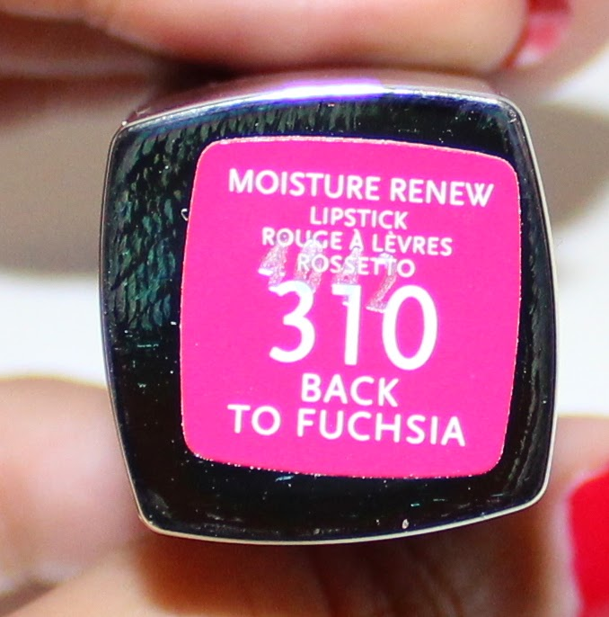 Rimmel Moisture Renew Lipstick in #310 Back to Fuchsia