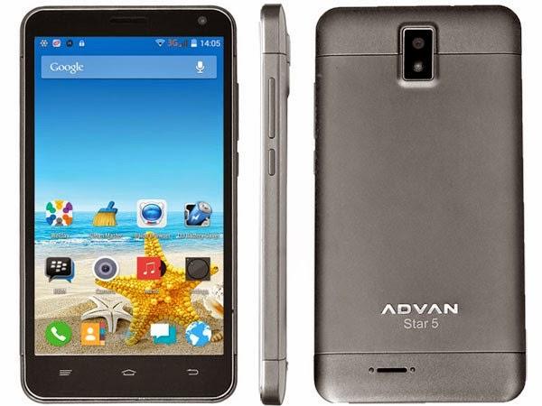 Spesifikasi Advan Star Note S5L Android KitKat 1 Jutaan