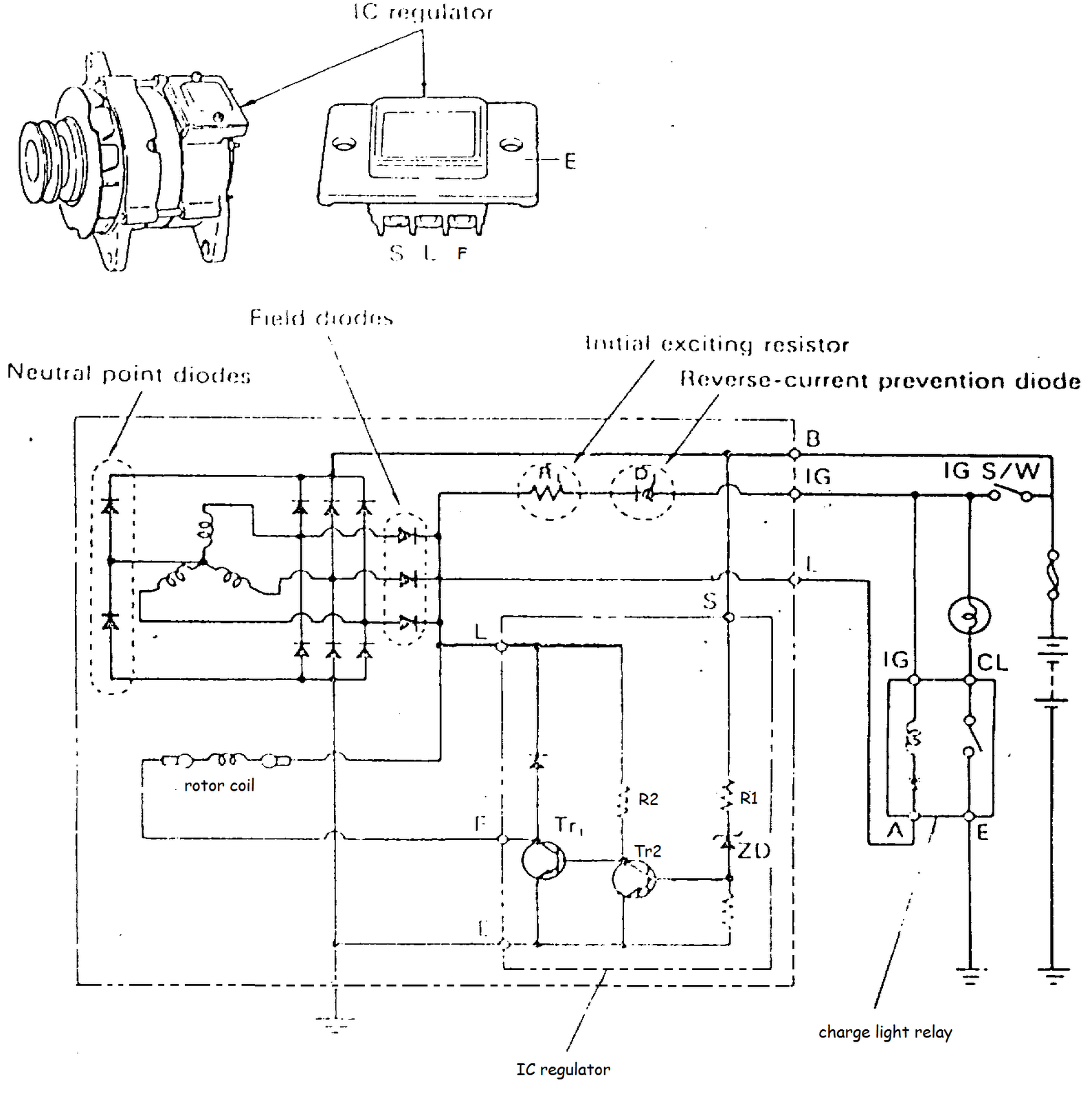 alternator ic regulator diagram trusted wiring diagram