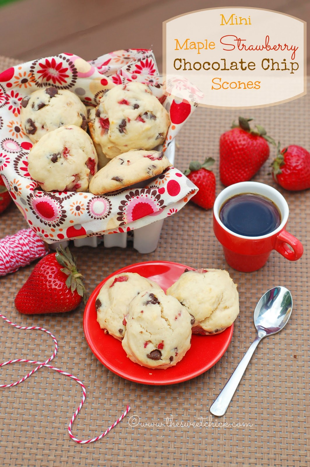 Strawberry And Chocolate Chip Scones Recipes — Dishmaps