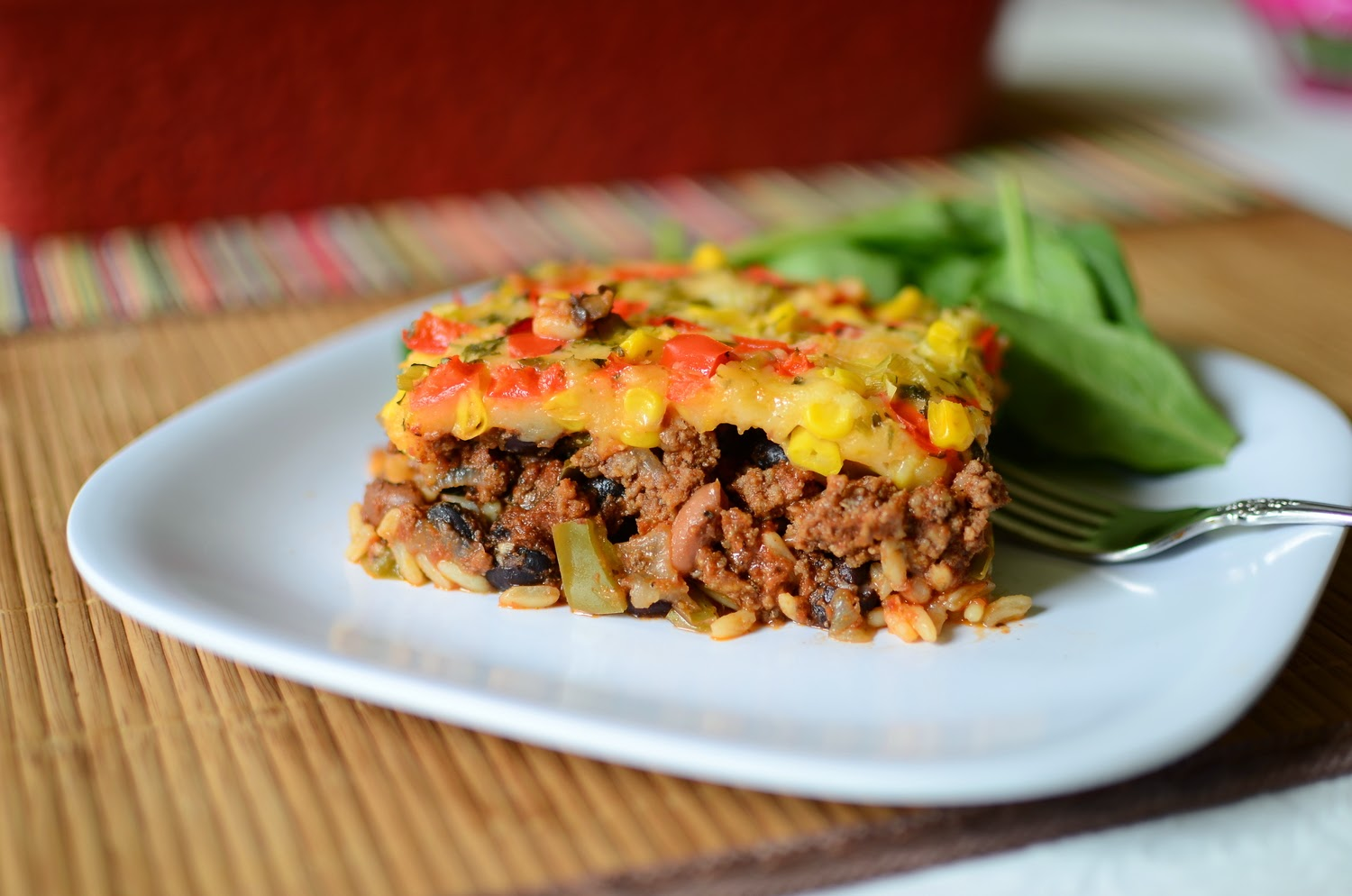 Mexican Beef Casserole, shared by Butter Yum