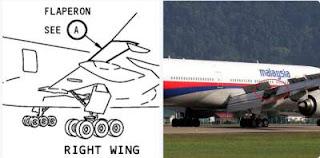 rupa mh370 selepas dijumpai