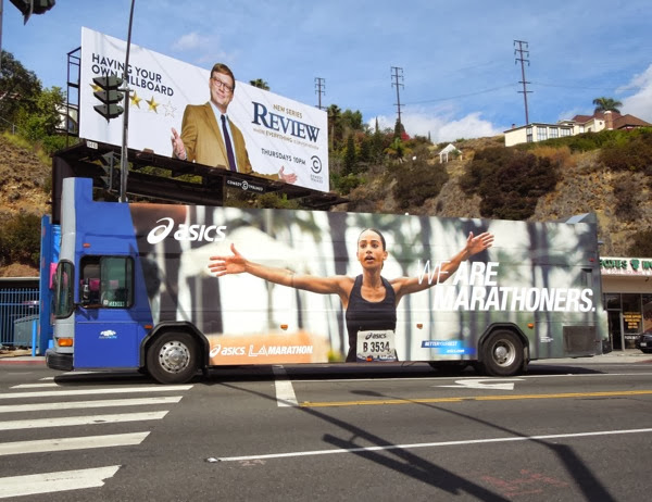 We are Marathoners L.A. Marathon 2014 bus advert