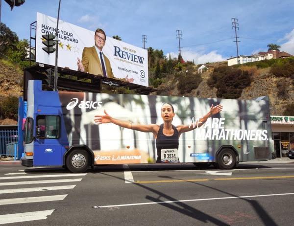 We are Marathoners L.A. Marathon 2014 bus advert