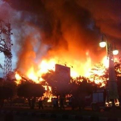 Musibah Kebakaran Bank BPD Di Banda Aceh