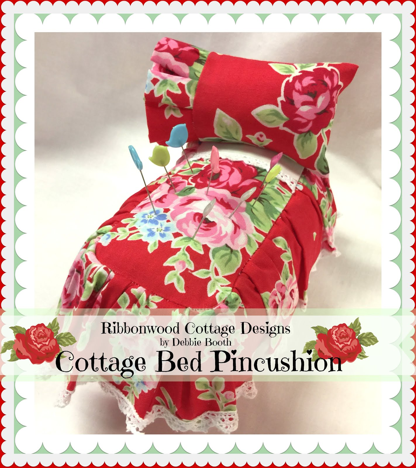 Cottage Bed Pincushion PDF