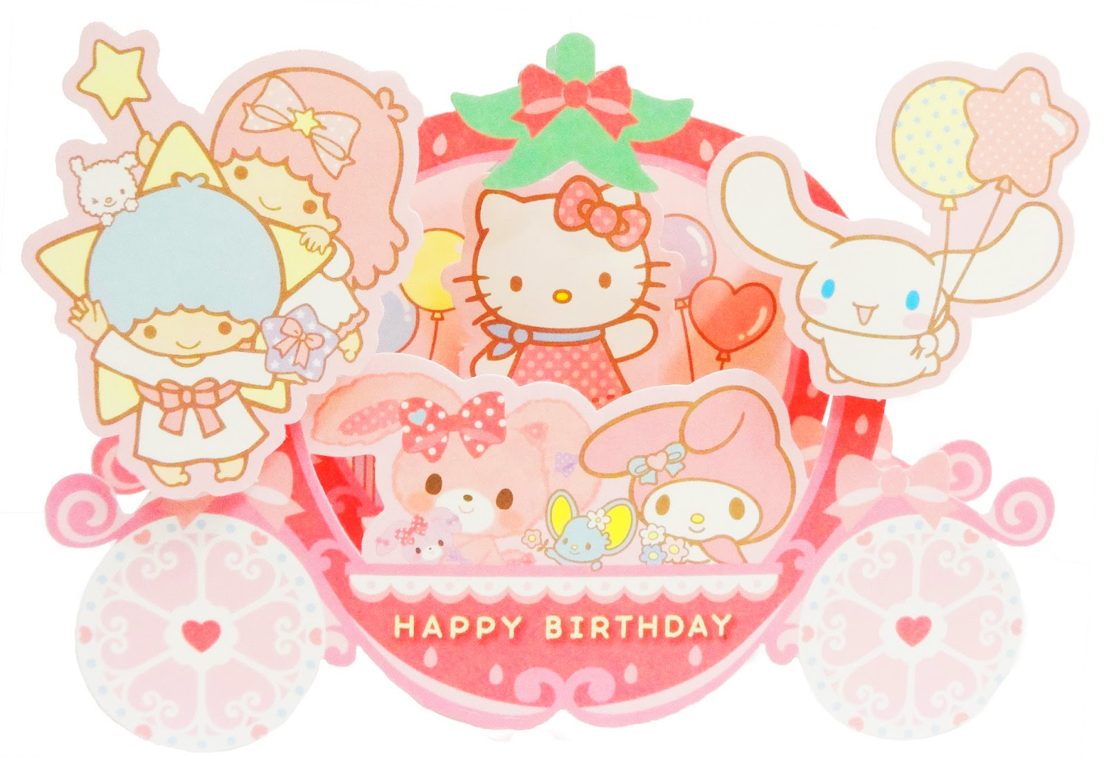 New arrival hello kitty birthday pop up greeting card miss girlie hello kitty birthday pop up greeting card m4hsunfo