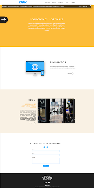 Home Iditic. Web design