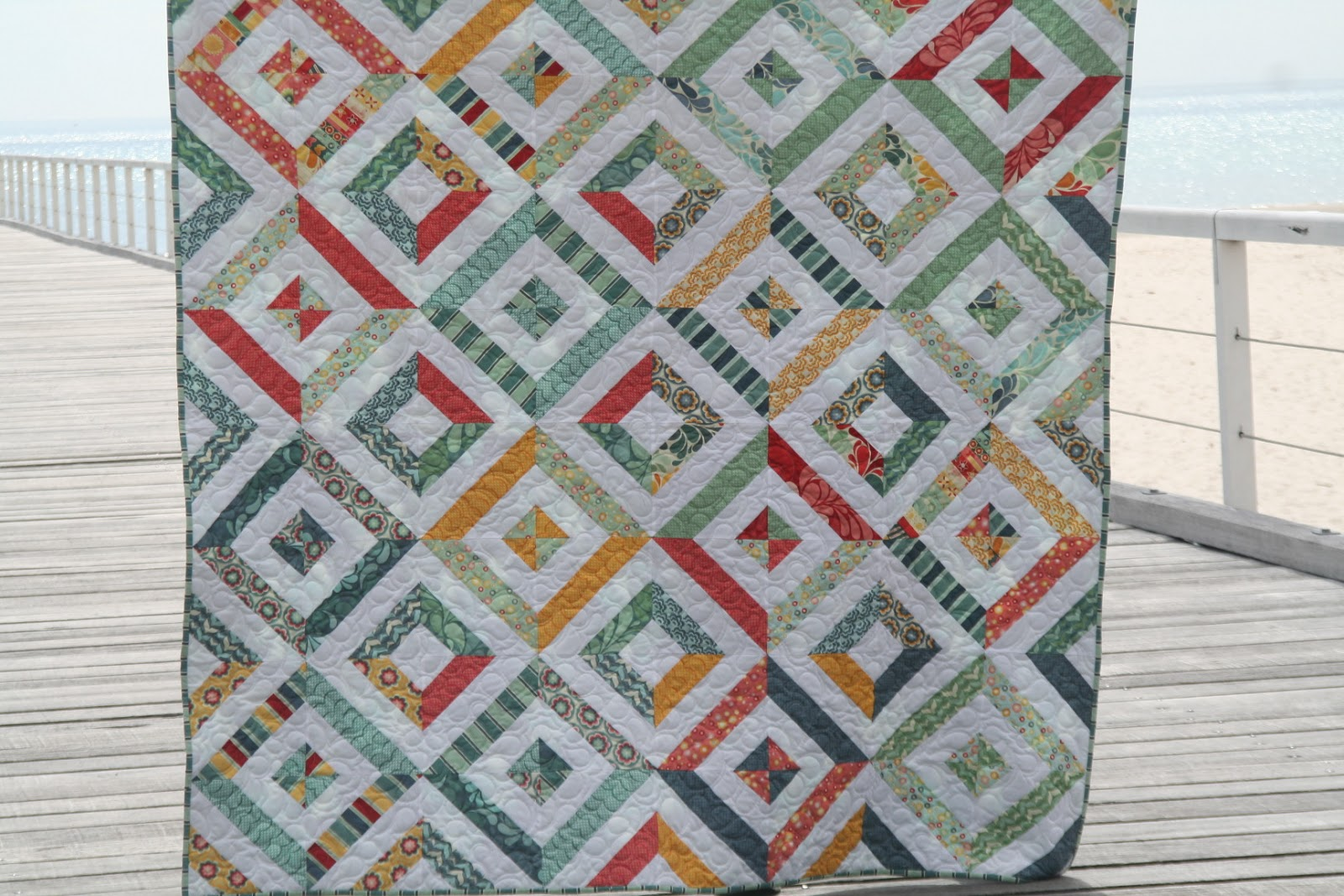 England Street Quilts: Summer in the Park - Free Jelly Roll Pattern