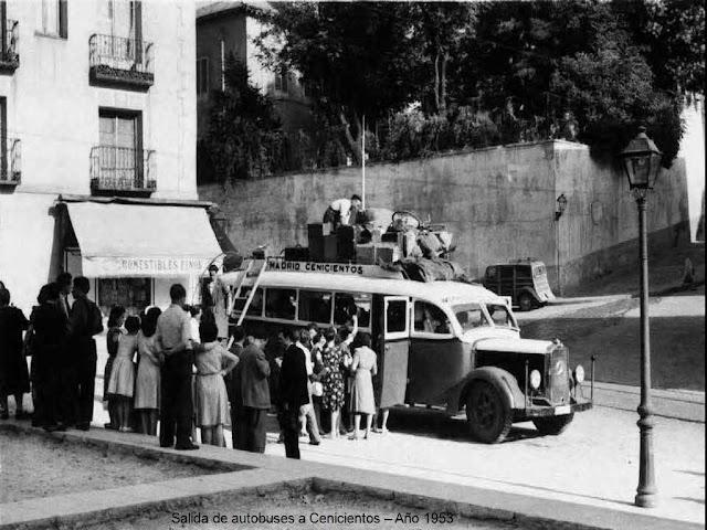 Coche de linea a Cenicientos, Madrid 1953