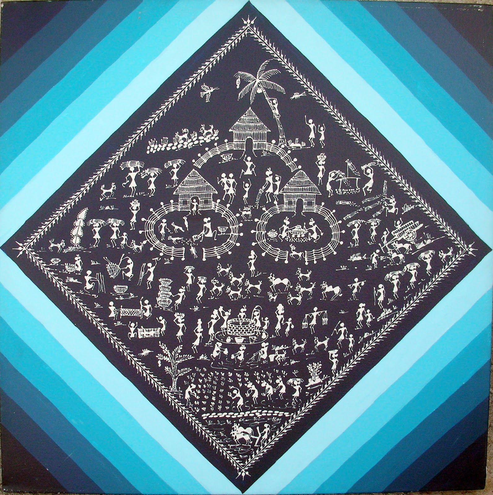Warli painting history information warli painting and the paintings of the tribe of maharashtra are the most joyous celebration of that very altavistaventures Image collections