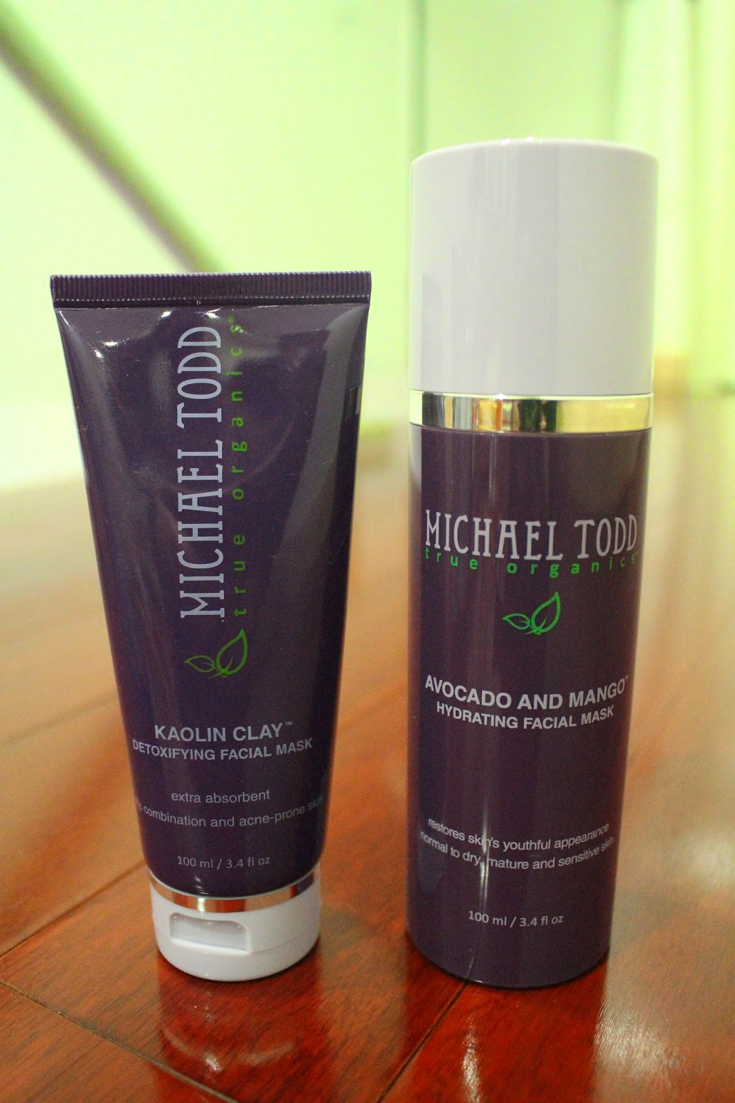 Michael Todd Kaolin Clay Detoxifying Facial Mask and Avocado and Mango Hydrating Facial Mask