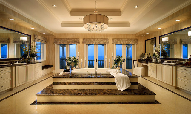 Luxury bathrooms native home garden design for Huge master bathroom