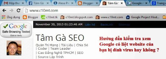 Google Safe Browsing - Hướng dẫn kiểm tra website của bạn có bị dính virus không ?